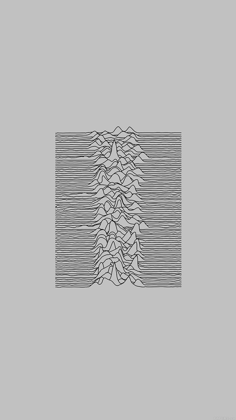Joy division unknown, pleasures white art, minima Phone Wallpaper