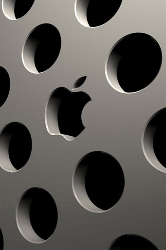 3D Apple Logo Картинка за Телефон