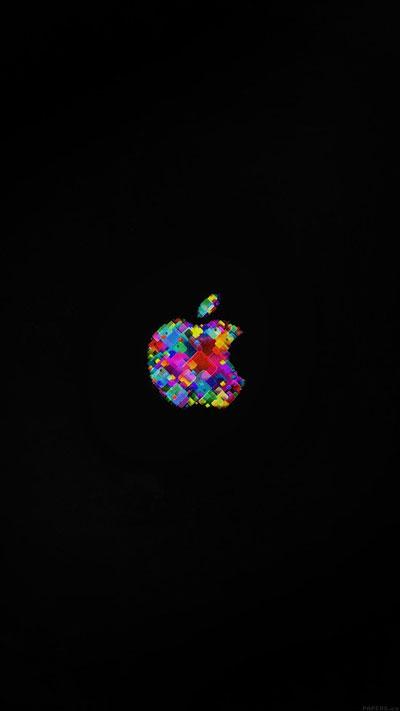 Apple Event Logo Art Dark Minimal Wallpaper