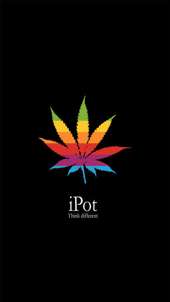 iPot Think Different Funny Apple Logo Wallpaper