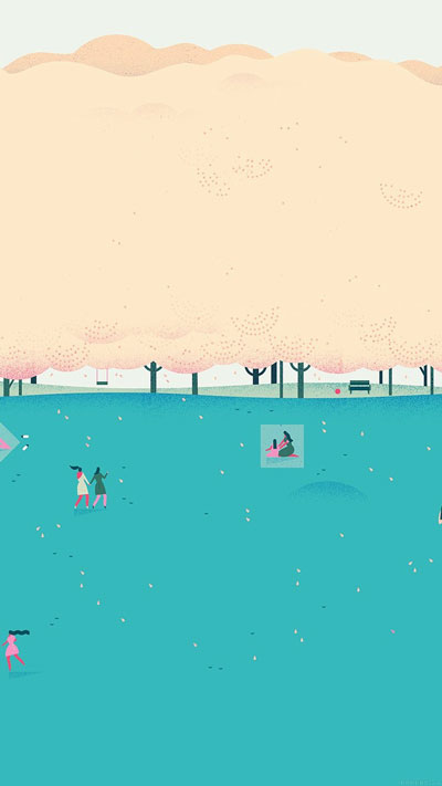 Google Lollipop, Blue Picnic Illust, Art Wallpaper