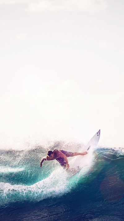 Sea Wave Sports, Summer Man Blue, Phone Wallpaper