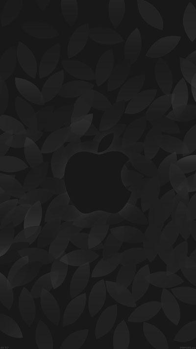 Apple in fall Dark Wallpaper