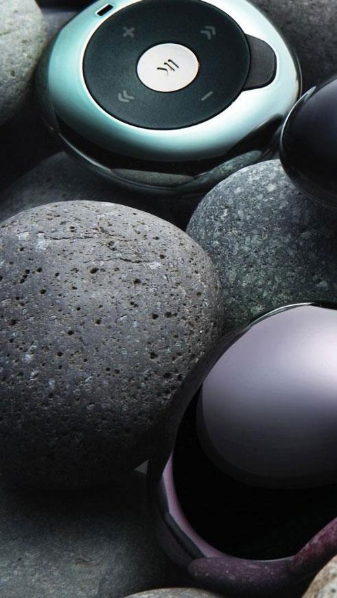 Камъни и MP3 плеър, Тапет за телефон