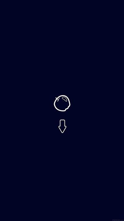 Apple down newton gravity simple blue Phone Wallpaper
