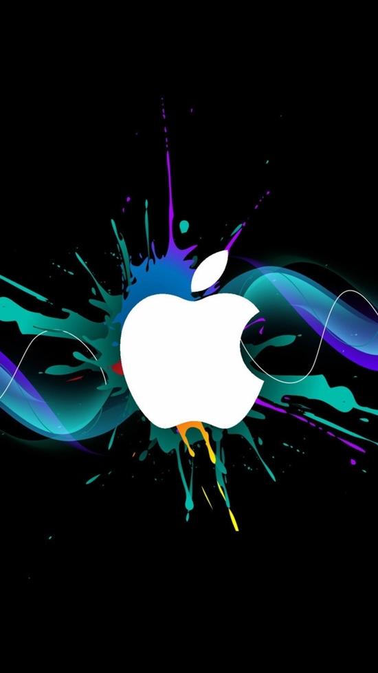 Apple mac lines waves smoke colored iPhone Wallpaper