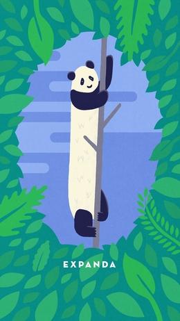 James Gibbs, Panda Illustration, Art iPhone Wallpaper