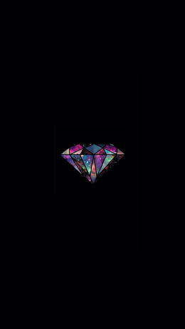 Diamond Universe Minimal, Illustration iPhone Wallpaper