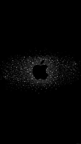 Logo art apple rainbow minimal dark iPhone Wallpaper
