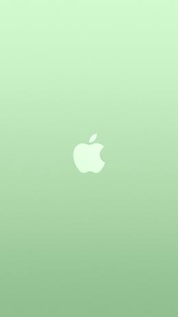 Logo apple green white minimal illustration art color iPhone Wallpaper