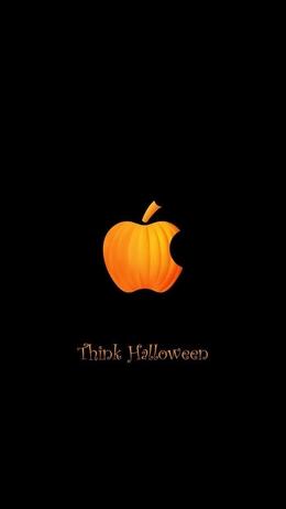 Apple inc halloween black funny HD+ iPhone Wallpaper