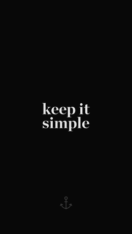 Keep it simple word quote dark illustration art