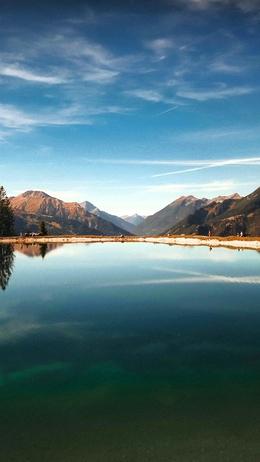Lake summer mountain nature