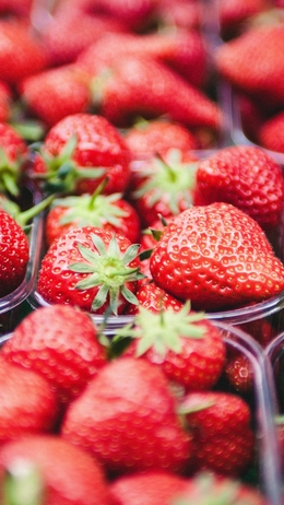 Strawberry fruit spring nature red