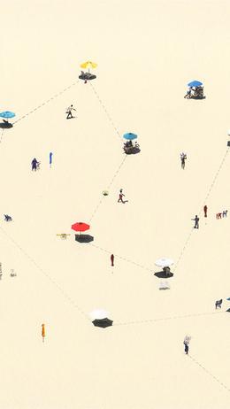 Summer beach small picture art illustration