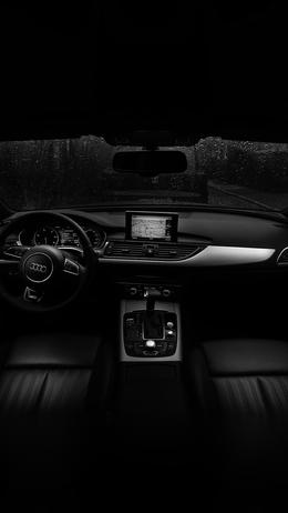 Audi car interior dark