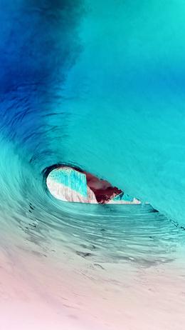 Apple osx yosemite wave sea blue Тапет за телефон