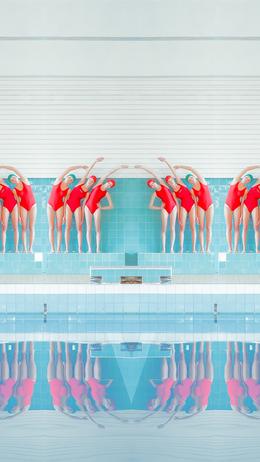 Swim girls illustration art iphone6 wallpaper