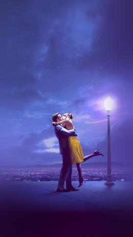 Lalaland film kiss blue art