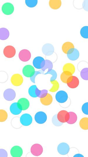 Default Colorful Bubbles Apple iOS7 Wallpaper