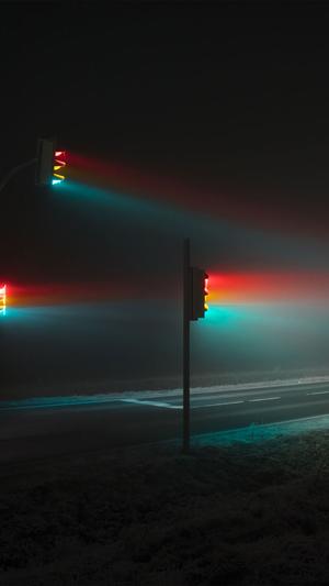 Light night street dark illustration art