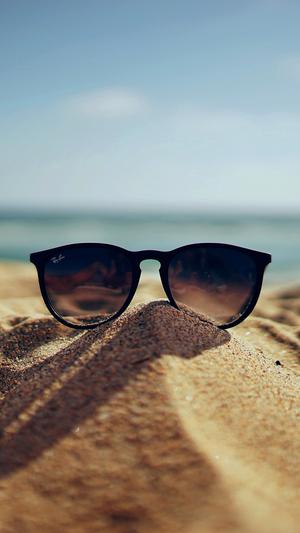 nature-glass-sun-rayban-bokeh-vacation-sea-summer-dark