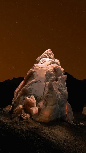 iceberg-dark-night-sky-art-orange