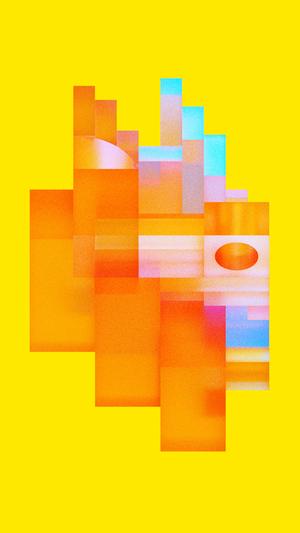 art-yellow-digital-abstract-tiktok-pixel