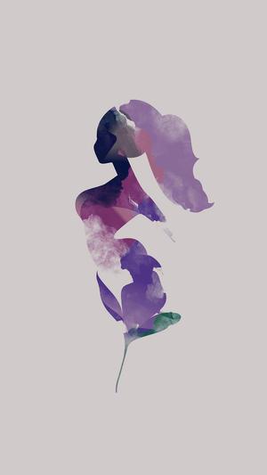 flower-white-woman-illustration-art