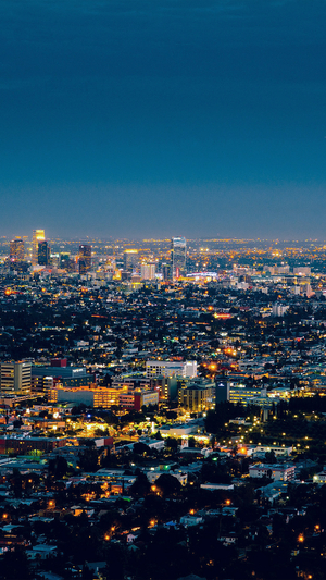 night-city-light-building-blue-sky