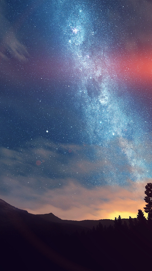 wonderful-tonight-space-star-sunset-mountain-flare