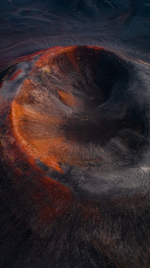 fire-mountain-dust-nature-art