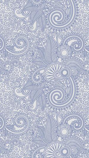 design-flower-line-blue-pattern