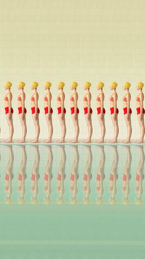 art-swimming-pool-girls