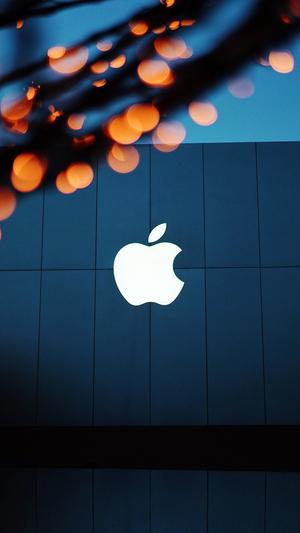 apple-logo-blue-orange-dark
